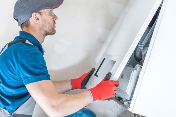 image of a furnace repair